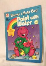 Vintage 1993 Barney & Baby Bop Paint with Water Activity Book HTF