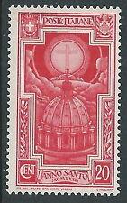 1933 REGNO ANNO SANTO 20 CENT MH * - CZ29-3