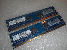 1GB (2 x 512MB) HP NANYA RAM 240p PC2-5300 DDR2-667 DIMM THC03 377725-888