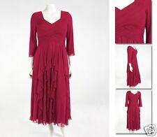 NEW Zaftique ENCHANTED GALA DRESS Garnet Red 0Z 2Z 3Z 5Z / 14 20 24 / L 2X 3X 5X