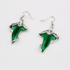 Lord of The Rings Green Leaf Elven Pin Brooch Pendant Earrings BE