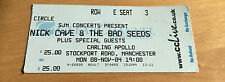 NICK CAVE & THE BAD SEEDS : Used Ticket, Apollo Manchester, England 8 Nov 2004