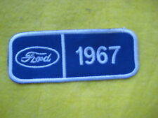 """Ford 1967 Mustang Galaxie Falcon Service Dealer Uniform Hat Patch 4 """"X 1 5/8"""""""