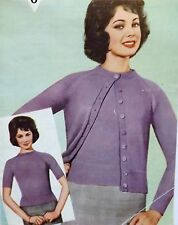 "Vintage Knitting Pattern Ladies Jumper & Button Cardigan 34-42"" Bust 3 Ply B3359"