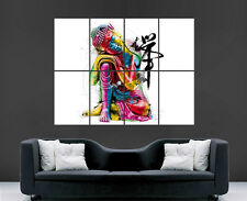 LORD BUDDHA POSTER TRIPPY ABSTRACT RELIGION BUDDHISM ART PICTURE PRINT LARGE