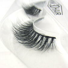 LASGOOS Luxurious 3D False Eyelashes Classic 100% Real Mink Fur Fake Eye Lashes