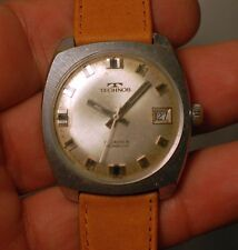 Vintage swiss made watch TECHNOS 17 JEWELS working condition