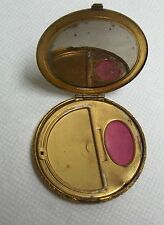 Vintage Brass Powder & Rouge Compact