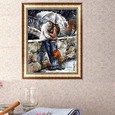 DIY 5D Diamond Embroidery Romantic In Rain Painting Cross Stitch Home Decor