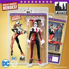 "Batman Joker HARLEY QUINN Black 8"" Figure GOLD SERIES Retro-Mego LE500"