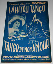 Partition vintage sheet music YVETTE HORNER : Lahitou Tango * Accordéon
