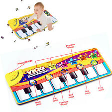 Musical Piano Keyboard Touch Play Learn Singing Carpet PlayMat Blanket Kids Toy