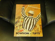 1966 TUFTS AT BOWDOIN (MAINE) COLLEGE FOOTBALL PROGRAM  EX-MINT