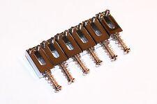 SET OF 6 SUSTAIN BRIDGE SADDLES FOR FENDER STRAT/ CHROME BLACK OR GOLD