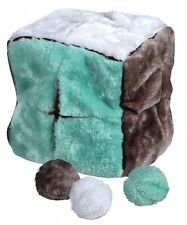 Pet Dog Puppy Plush Cube Toy with 4 Play Ball Can be Filled with Treats TRIXIE