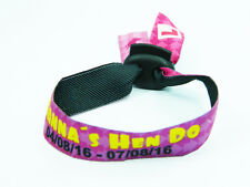 20 CUSTOM HEN PARTY FABRIC WRISTBANDS / BRACELETS SLIDING CLASP - FREE SHIPPING