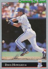 004   DAVE HOWARD    KANSAS CITY ROYALS  BASEBALL CARD LEAF 1992