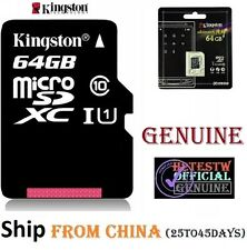 GENUINE Kingston 64GB Micro sd card TF Flash Memory MicroSd SDXC Class 10 REAL
