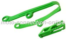 KAWASAKI KXF 250/450 06-15 GREEN CHAIN GUIDES & ROLLER KIT  Pt: 4710 GRN