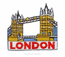 Iron on Patch Sew on Embroidered Patch Applique - World Travel London Bridge UK