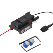 Mini Pistol Gun Red Dot Laser Sight Scope Picatinny Rail Mount + Pressure Switch
