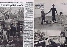 Coupure de presse Clipping 1981 Jeane Manson   (2 pages)