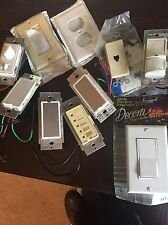 Lot of 10 Leviton Dimmers,  Switch(s) , motor control, etc.