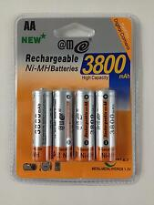 4 x AA MIGNON NI-MH BATTERY 1,2V 3800 mAh RECHARGEABLE BLISTER PACK NEW