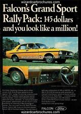 1971 FORD XY FALCON GS FAIRMONT A3 POSTER AD ADVERT ADVERTISEMENT SALES BROCHURE