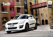 SUZUKI SWIFT ACCESSORI 2010/11 Regno Unito delle vendite sul mercato opuscolo SZ2 SZ3 SZ4