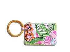 Lilly Pulitzer Wristlet Floral Bamboo - Nosie Posey NWT