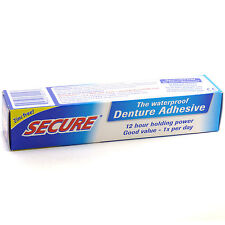 Secure Denture Bonding Adhesive Cream by Dentek - 1.4 Ounces