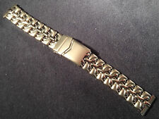 ROWI Germany 20mm Stainless Steel Bracelet Watch Band Deployment Buckle $63.95