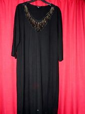 XL womans black stretch dress metal spike design very slimming Tv fitting too