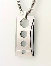 Men's Tungsten Carbide Pendant Necklace with Chain