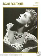JOAN FONTAINE ACTRICE ACTRESS FICHE CINEMA USA 90s