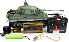 Taigen Hand Painted RC Tank Early Version Tiger I Grey Camo - Full Metal Upgrade
