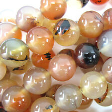 "14mm natural carnelian round beads 15.5"" strand"