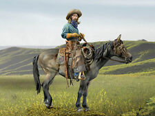 Andrea Miniatures Mounted True Cowboy 90mm Unpainted kit