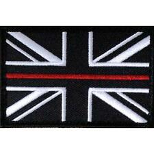 Thin Red Line Fire Fighters Union Jack Velcro backed patch ( Fire Service Badge)