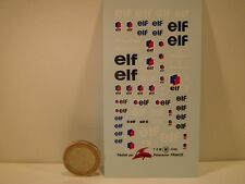 "DECALS 1/43 PETROLIER "" ELF "" - VIRAGES  T98"