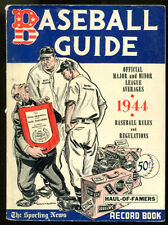 1944 Official Baseball Guide Sporting News  Ex Cond