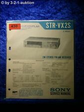 Sony Service Manual STR VX2S Receiver  (#0430)