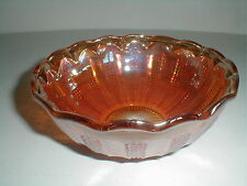 Imperial Marigold Carnival Glass DIAMOND POINT COLUMNS Master Berry Bowl
