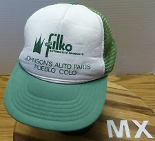 VINTAGE FILKO AUTOMOTIVE JOHNSON'S AUTO PARTS PUEBLO COLORADO HAT SNAPBACK VGC