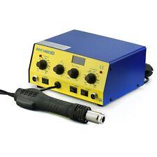 3in1 SMD Hot Air Heißluft Lötstation Entlötstation 800W 100-450°C, 3 Aufsätze