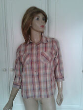 NEW LOOK CHECK SHIRT/BLOUSE SIZE 10
