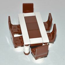 LEGO Furniture: Dining Set Collection - 6 Chairs & Table (Brown & White)   [set]