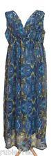 KUSHI Butterfly Print Maxi Dress SIZE 18