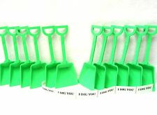 "48 ""I Dig You"" Stickers and  48 Lime Toy Plastic Sand Shovels Mfg USA Lead Free"